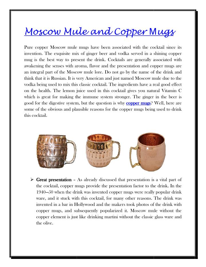Moscow Mule and Copper