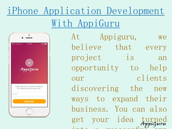 Iphone application development with appiguru