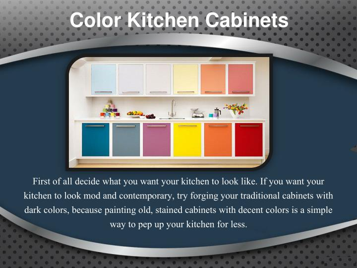 Color Kitchen Cabinets