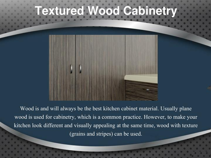Textured Wood Cabinetry