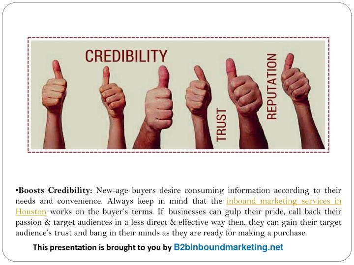 Boosts Credibility: