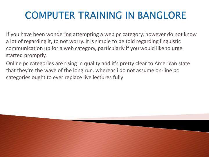 Computer training in banglore1