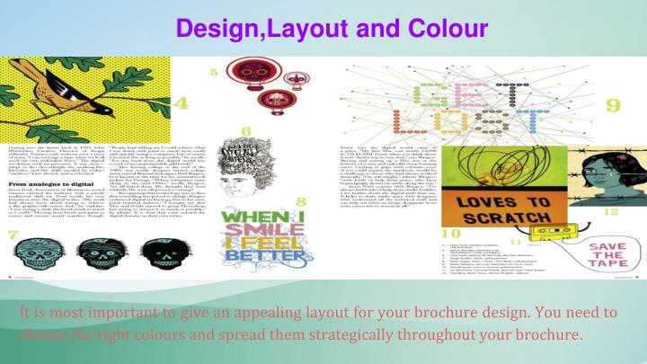 Design,Layout and Colour