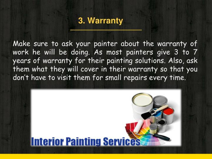3. Warranty