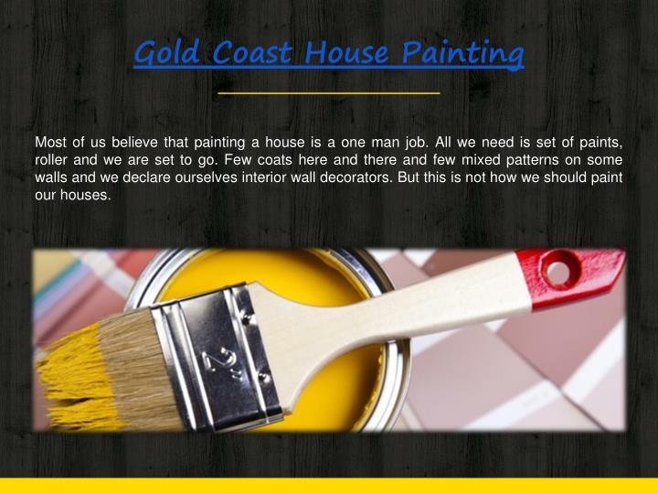 Gold coast house painting