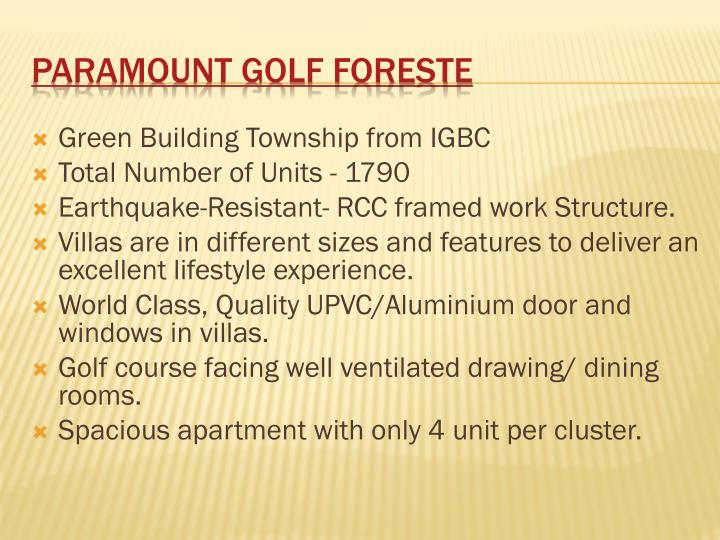 Green Building Township from IGBC