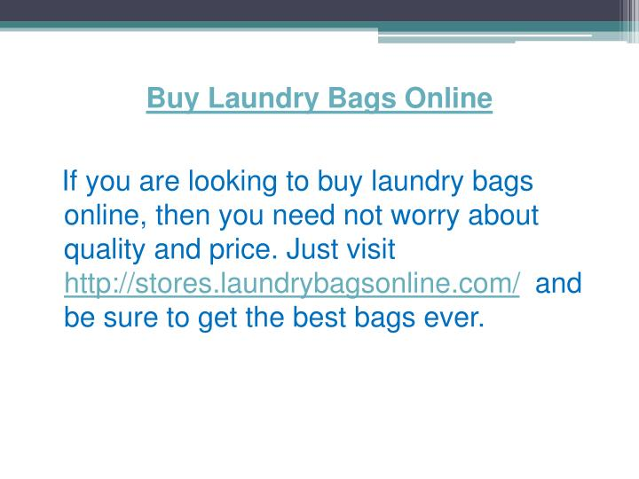 Buy Laundry Bags Online