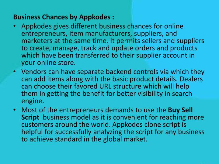 Business Chances by