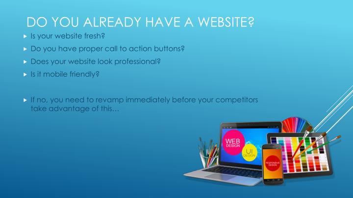 Is your website fresh?