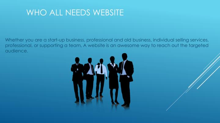 Who all needs website