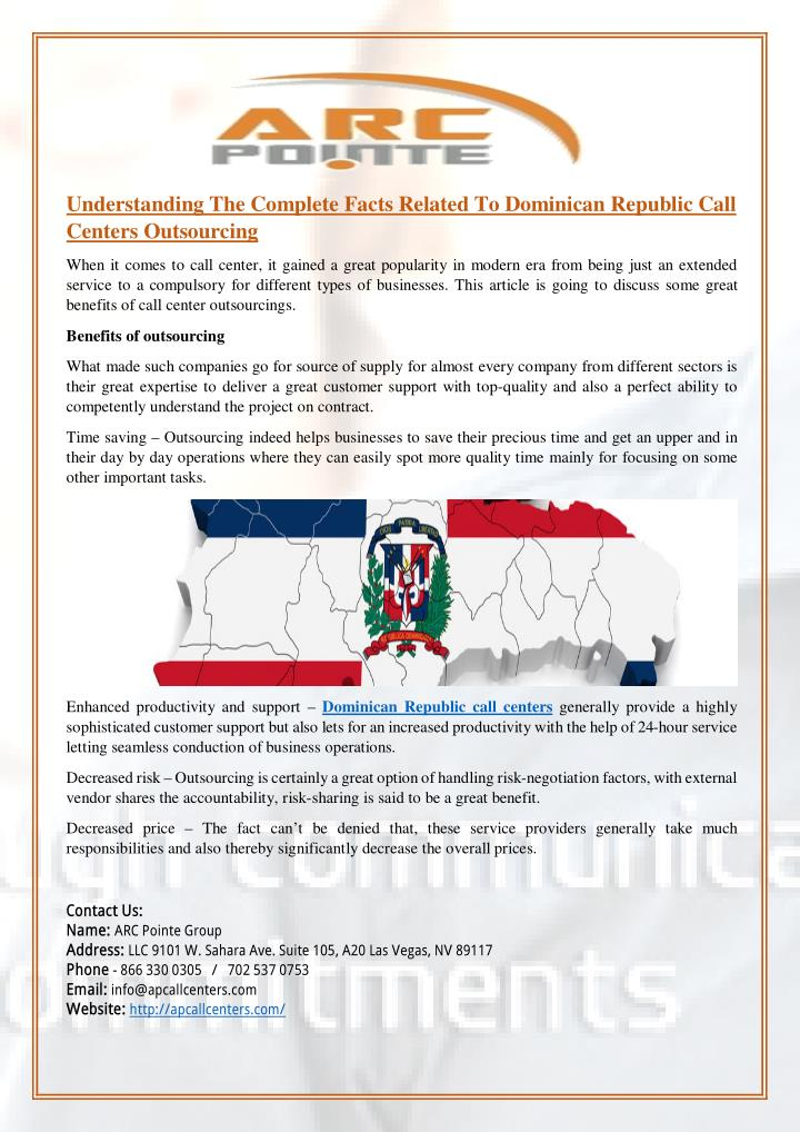 Understanding The Complete Facts Related To Dominican Republic Call