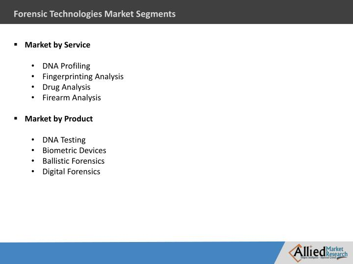 Forensic Technologies Market Segments