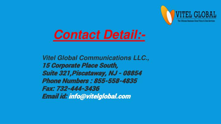Contact Detail:-
