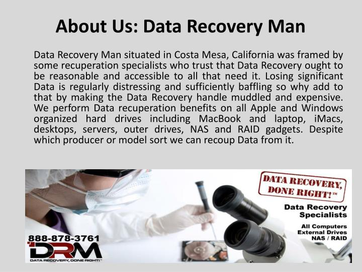 About us data recovery man