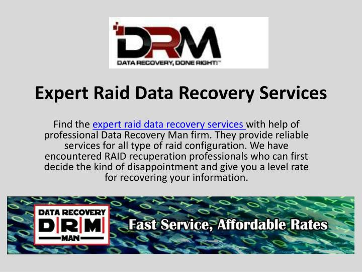 Expert raid data recovery services