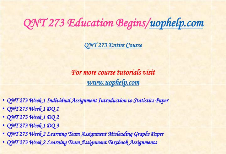 Qnt 273 education begins uophelp com1