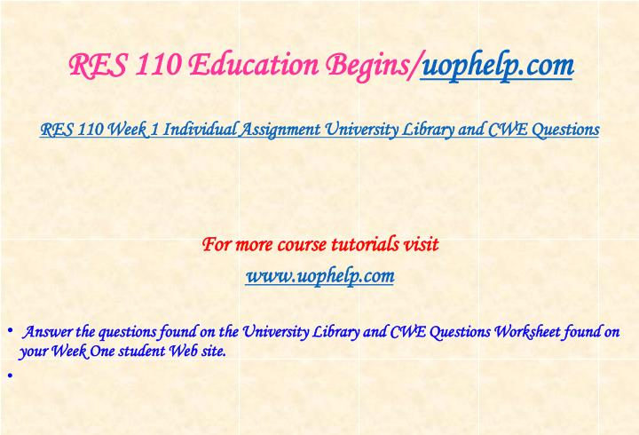 Res 110 education begins uophelp com2