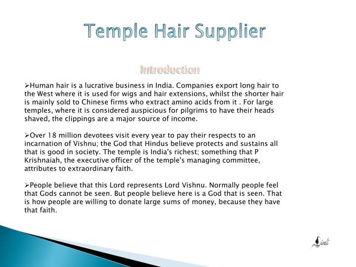 Temple hair supplier1