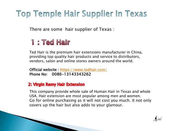 Top Temple Hair Supplier In Texas