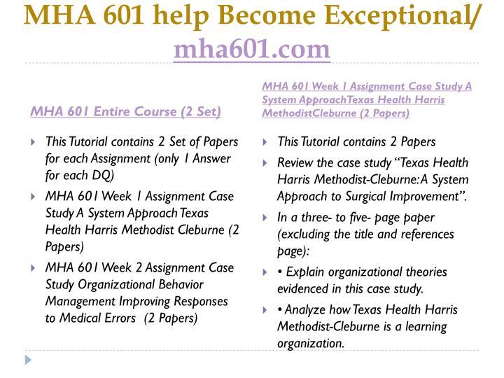 Mha 601 help become exceptional mha601 com1