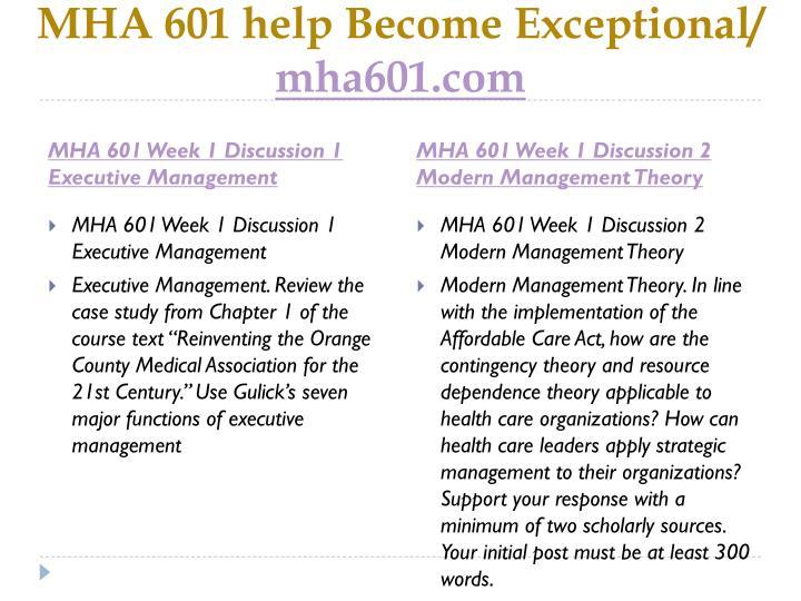 Mha 601 help become exceptional mha601 com2