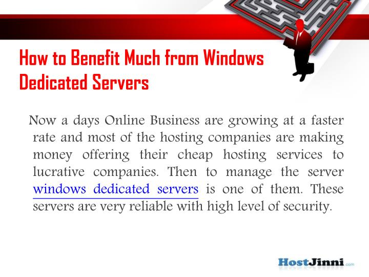How to benefit much from windows dedicated servers