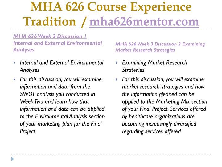 MHA 626 Course