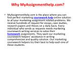why myassignmenthelp com