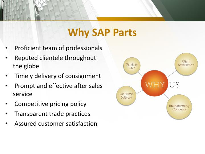Why SAP Parts