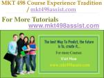 mkt 498 course experience tradition mkt498assist com16