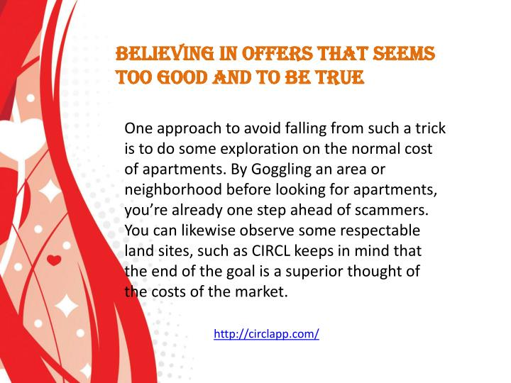 Believing in offers that