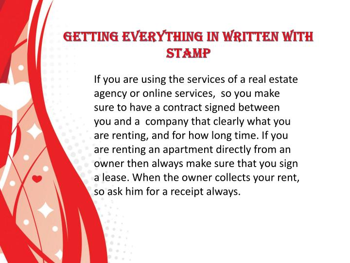 If you are using the services of a real estate