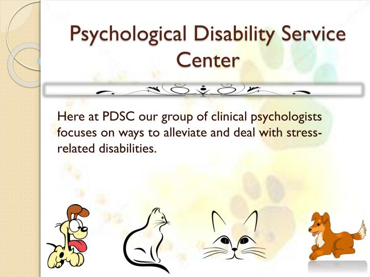 psychological disability service center n.