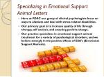 specializing in emotional support animal letters