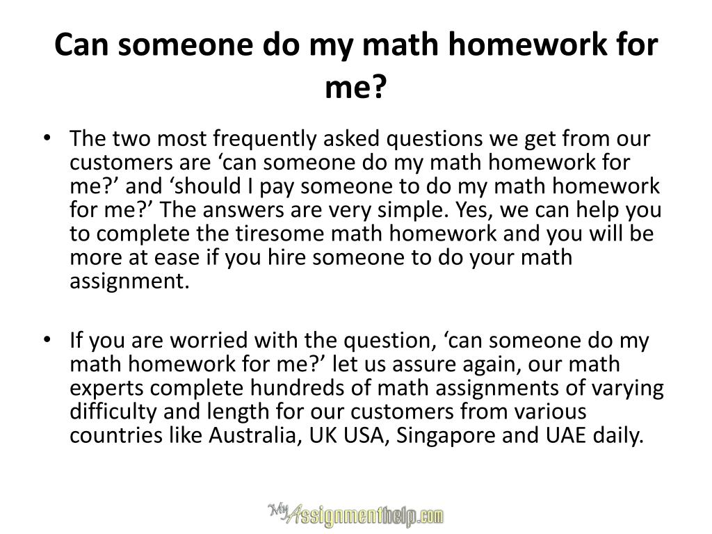 Hire/Pay Someone To Do Your Math Homework, Exam or Class