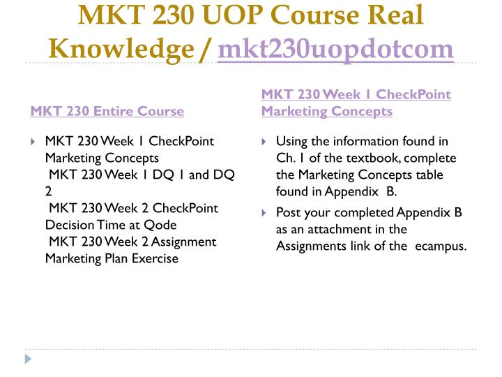 Mkt 230 uop course real knowledge mkt230uopdotcom1