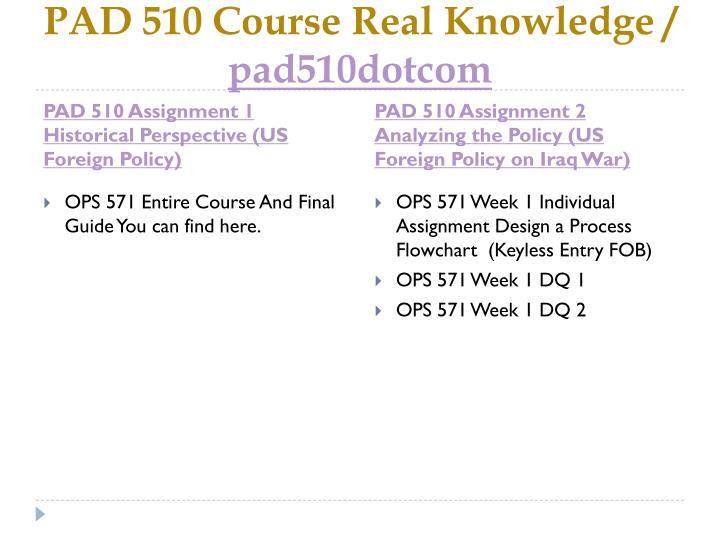 Pad 510 course real knowledge pad510dotcom1