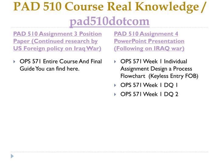 Pad 510 course real knowledge pad510dotcom2