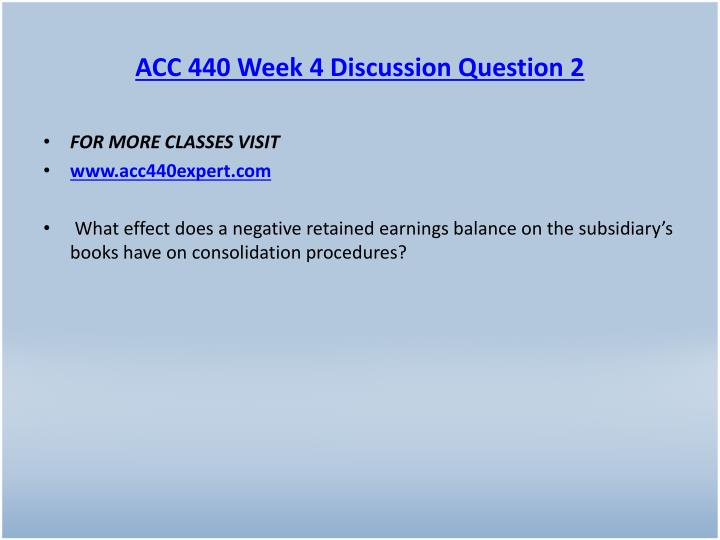 ACC 440 Week 4 Discussion Question 2