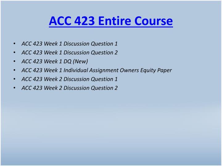 Acc 423 entire course
