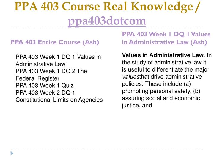 Ppa 403 course real knowledge ppa403dotcom1