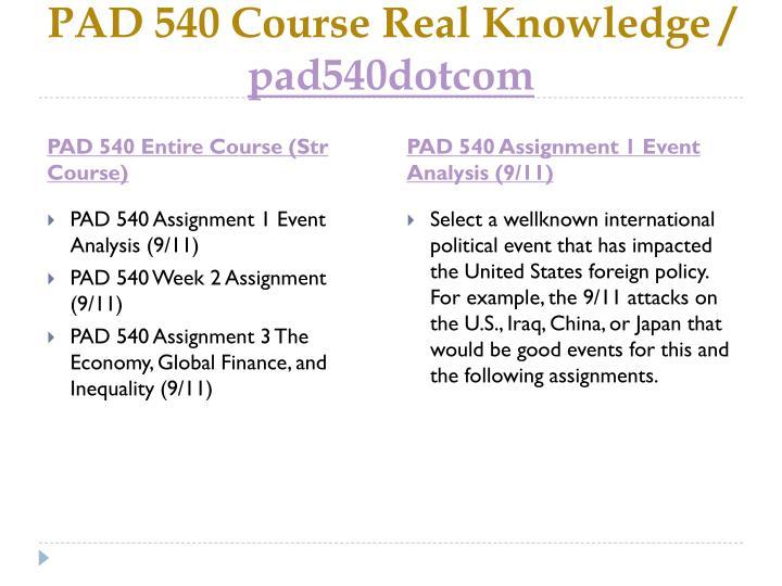 Pad 540 course real knowledge pad540dotcom1