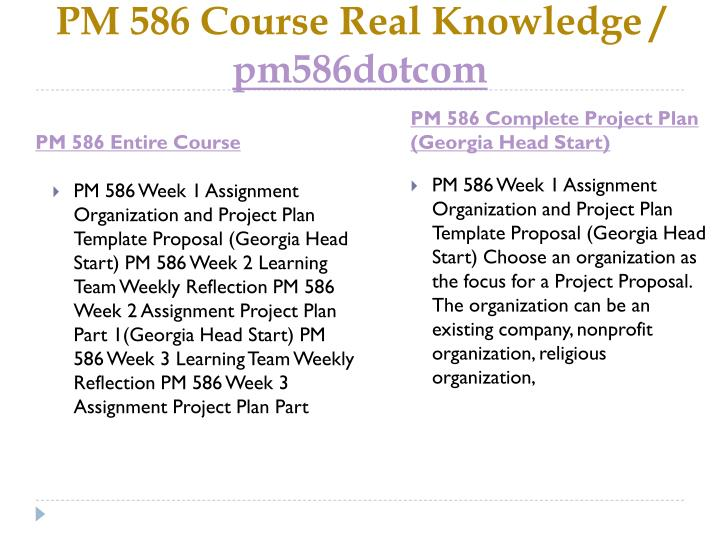 Pm 586 course real knowledge pm586dotcom1