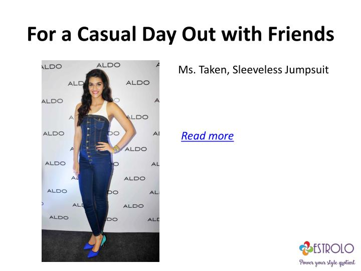 For a Casual Day Out with Friends
