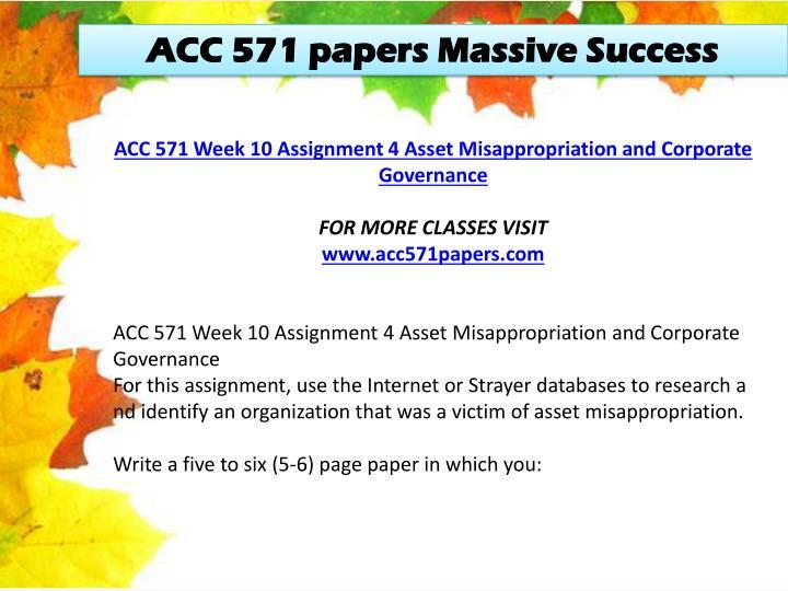 ACC 571 papers Massive Success
