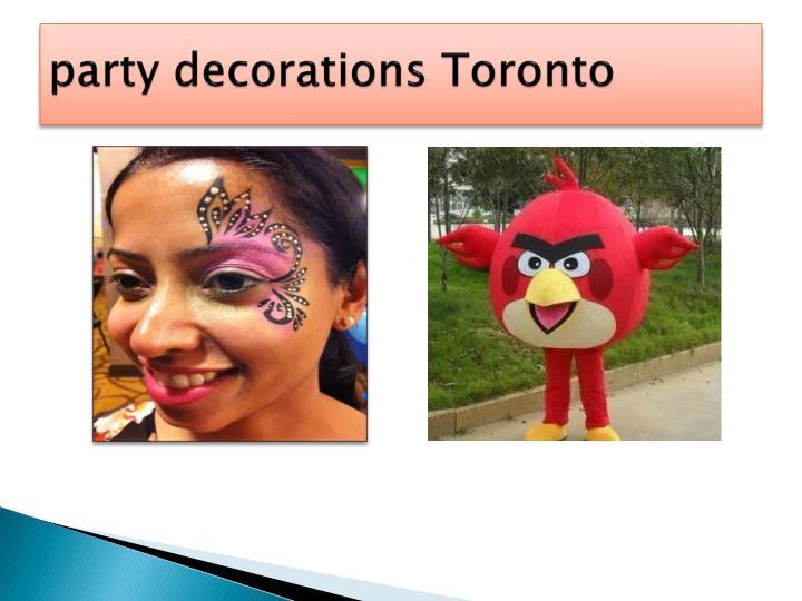 Party decorations toronto