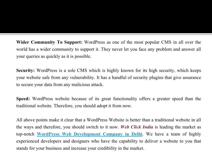 Wider Community To Support: