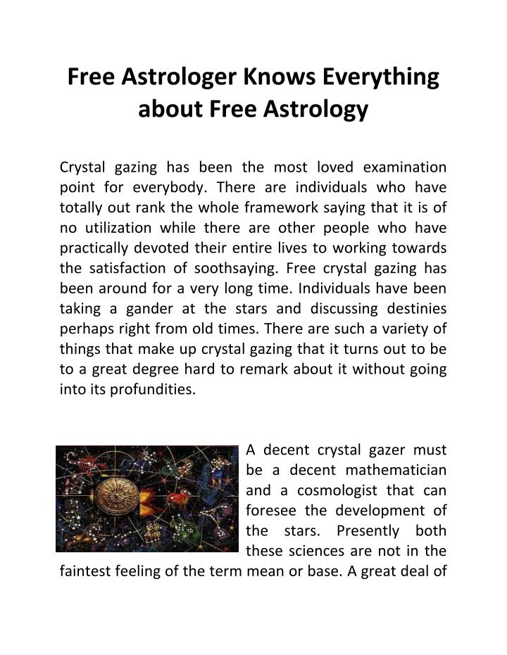 Free Astrologer Knows Everything