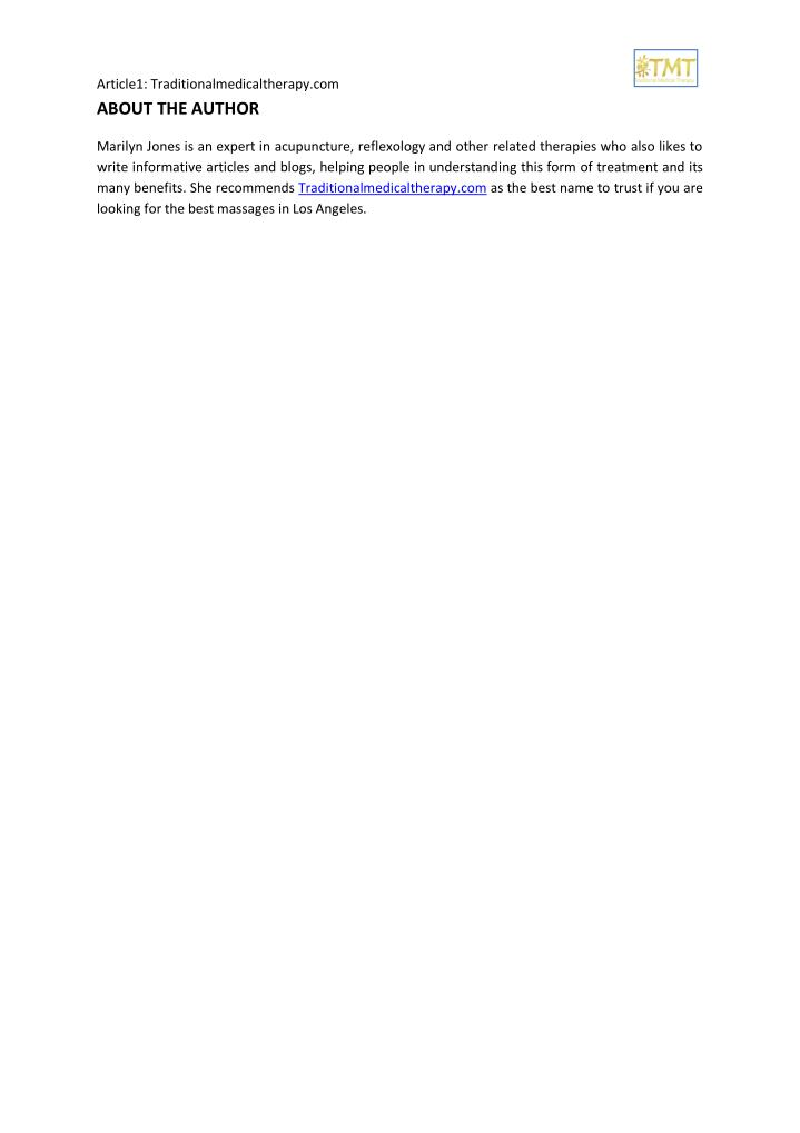 Article1: Traditionalmedicaltherapy.com                                                             ...