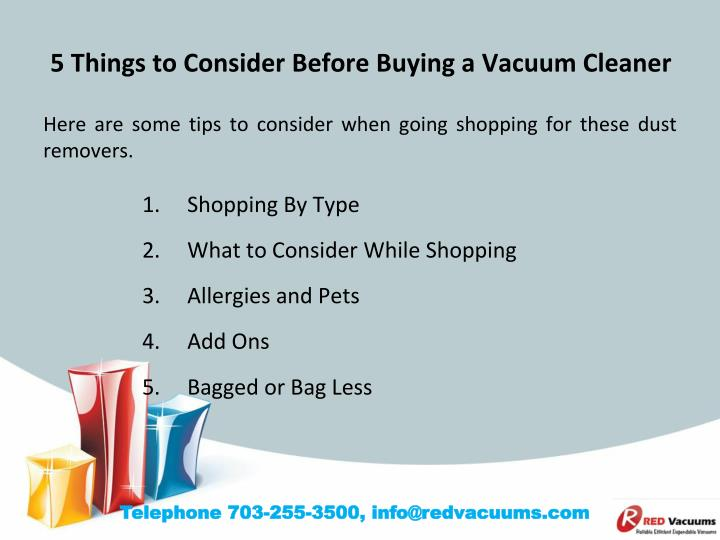 Ppt 5 Things To Consider Before Buying A Vacuum Cleaner